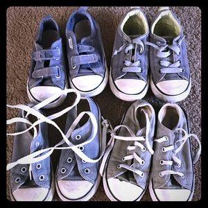 Converse bundle. 4 pairs of size 9